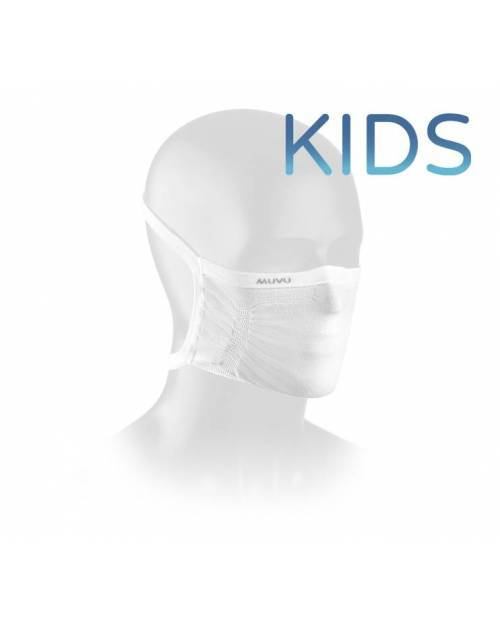 Muvu Mascarilla Imbros Niños 3-7 Años Blanca