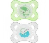 CHUPETE SILICONA MAM NIGHT 0-6 MESES PACK DOBLE