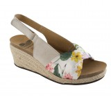scholl mindy color hueso con estampado floral (36-37-38-39-40)